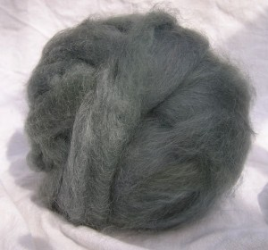 Mohair roving from Wicked Good Farm.